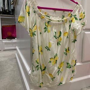 Off shoulder lemon blouse